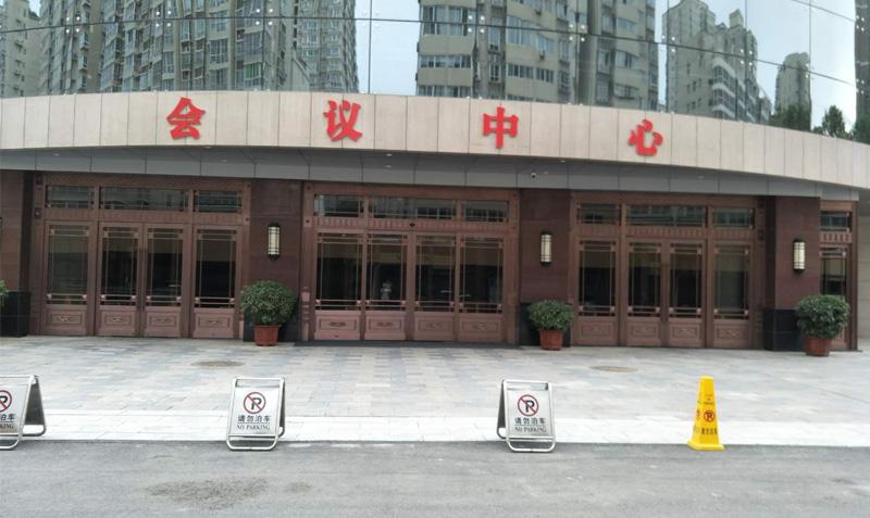 长安区政府自动铜门工程案例